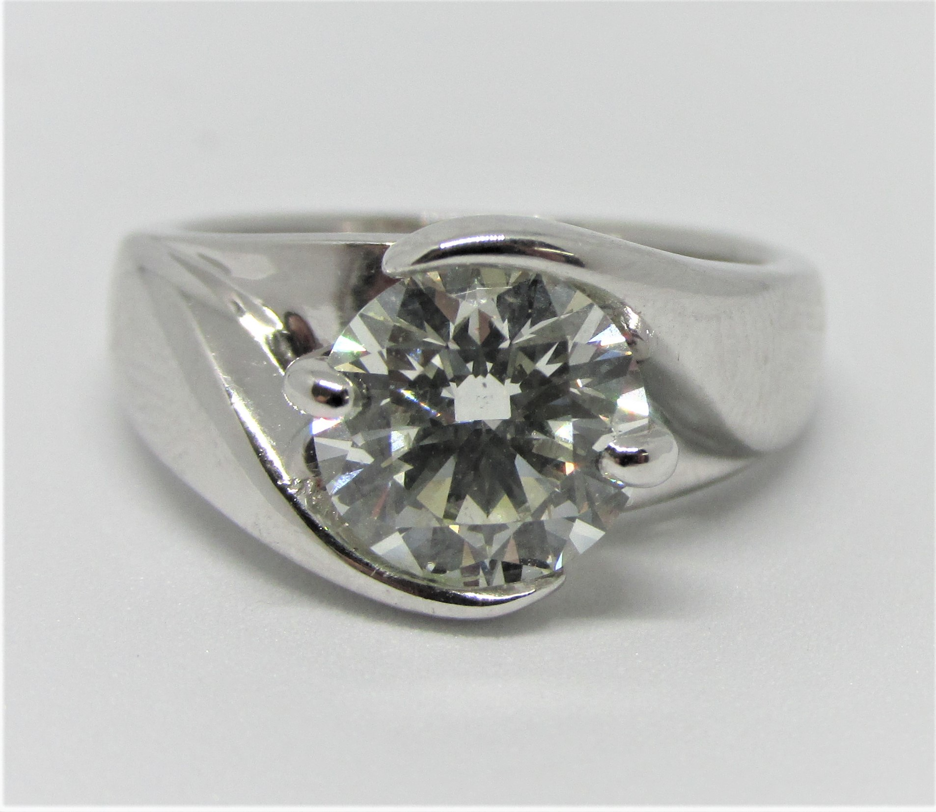 14kwg Cathedral Style Diamond Ring Totaling 1 75 Carats